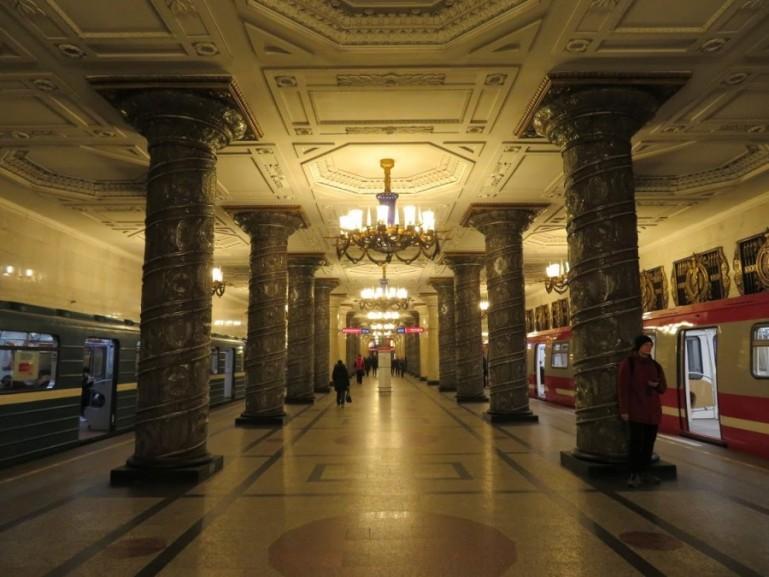 Avtovo metro station on the St Petersburg metro tour