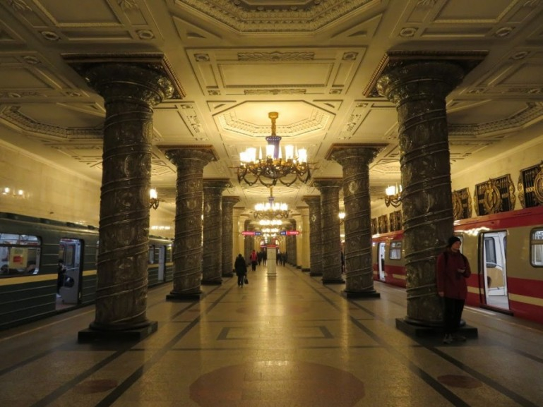 Avtovo metro station on the St Petersburg metro tour