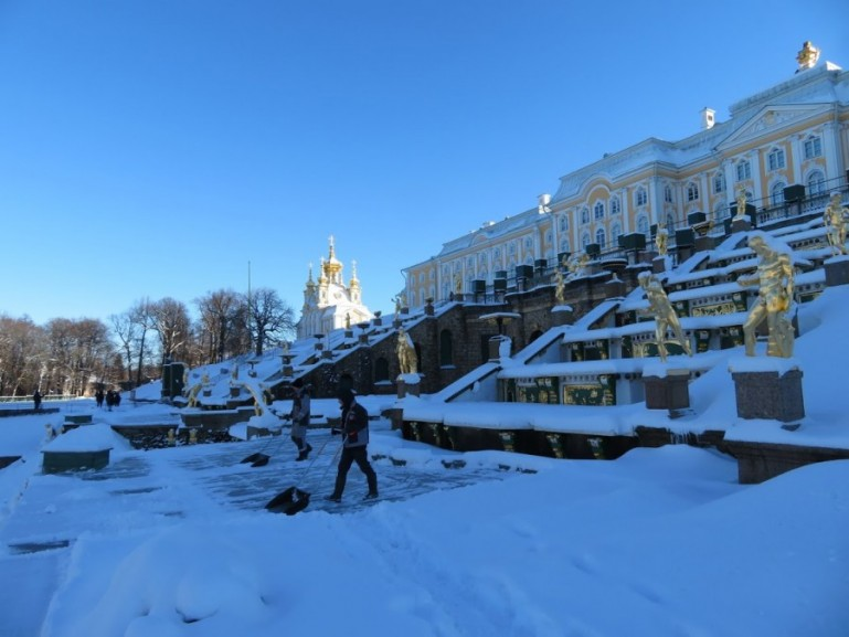 Peterhof in winter