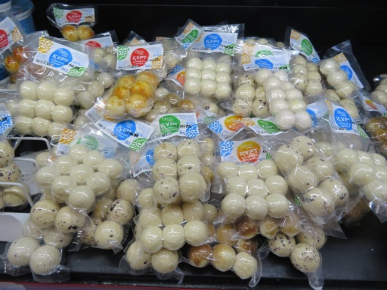 Kurut are the most popular snacks in Kyrgyz food