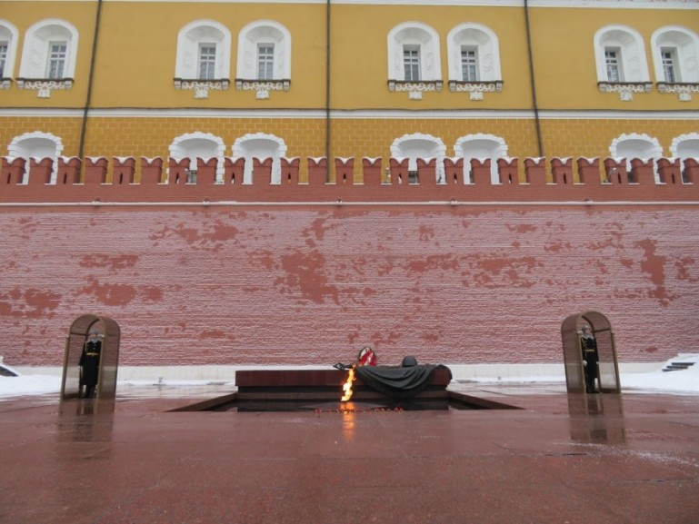 War memorial at the Kremlin wall Moscow