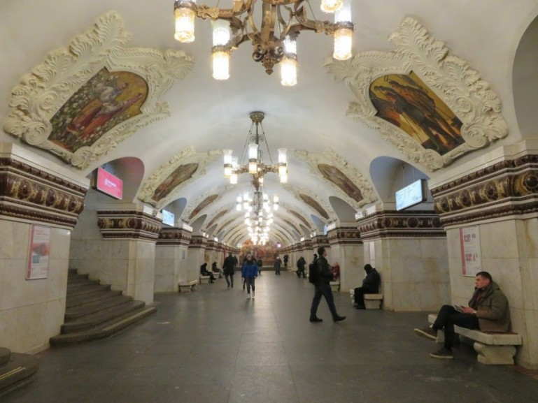 Kievskaya metro station is one of the most beautiful on a Moscow Metro tour