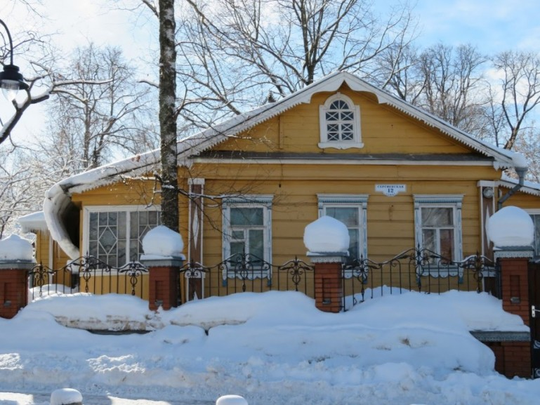 Wooden homes in Sergiev Posad