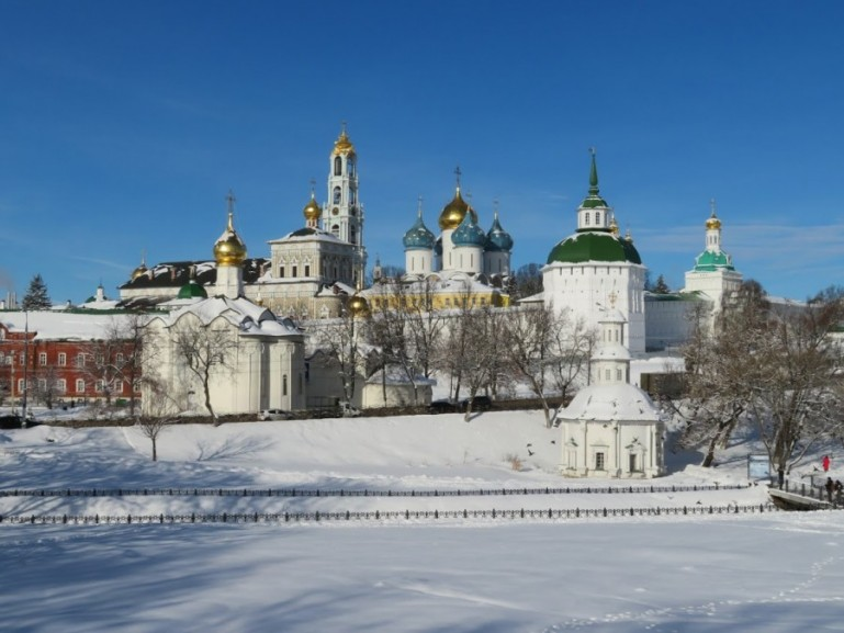 Holy trinity Lavra of St Sergius view from pancake hill