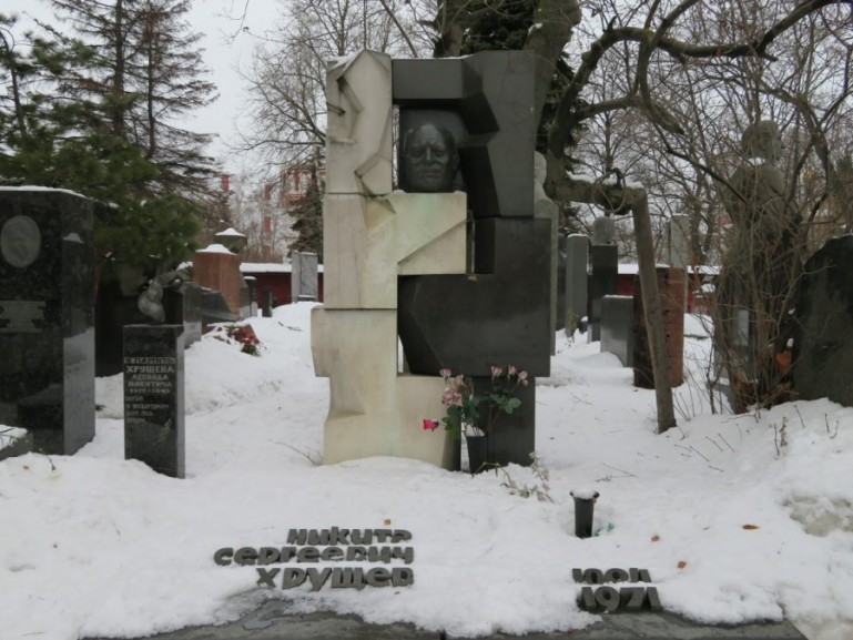 Kruschev at the novodevichy cemetery