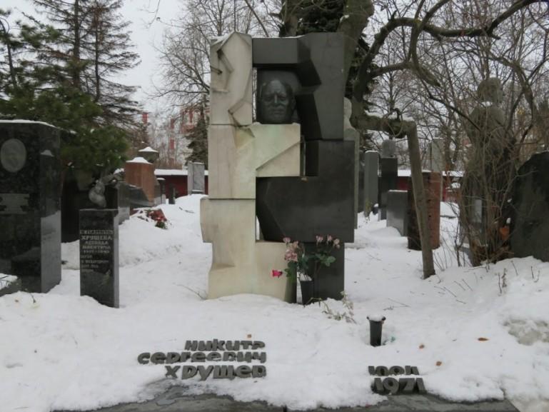 Kruschev at the novodevichy cemetery