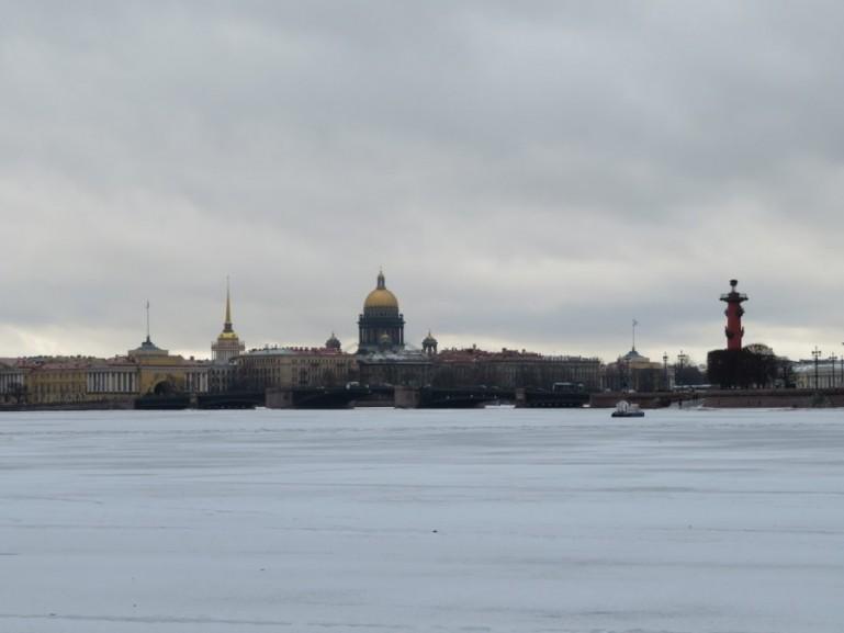 Frozen Neva St Petersburg