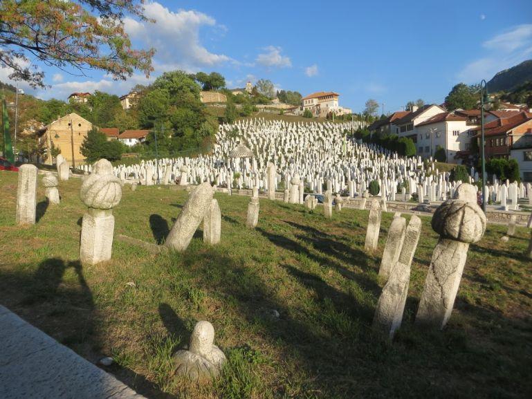 Muslim cemetery in Sarajevo Bosnia
