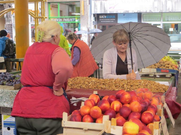 Markale market in Sarajevo Bosnia