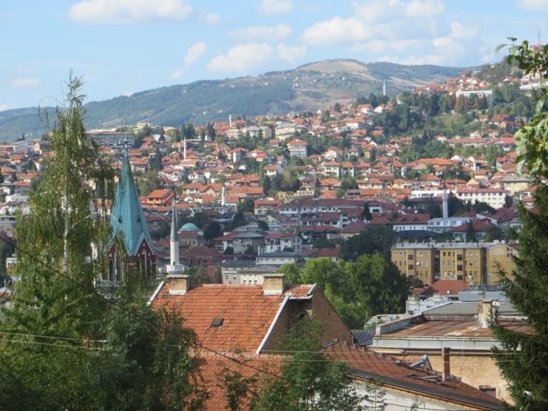 Views from the yellow fortress on Sarajevo