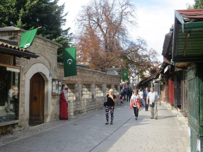 The Bascarsija in Sarajevo. Sarajevo is a good start of your Bosnia itinerary