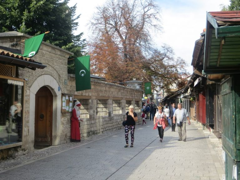 The Bascarsija in Sarajevo. Sarajevo is a good start of your Bosnia itinerary