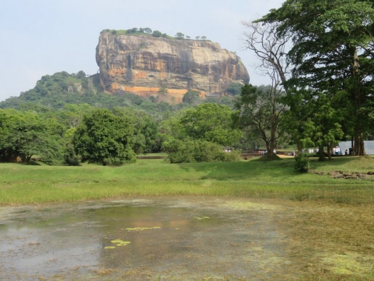 Sigiriya rock is one of the top attractions in the cultural triangle of Sri Lanka