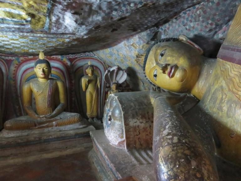 Dambulla cave monastery in the cultural triangle of Sri Lanka