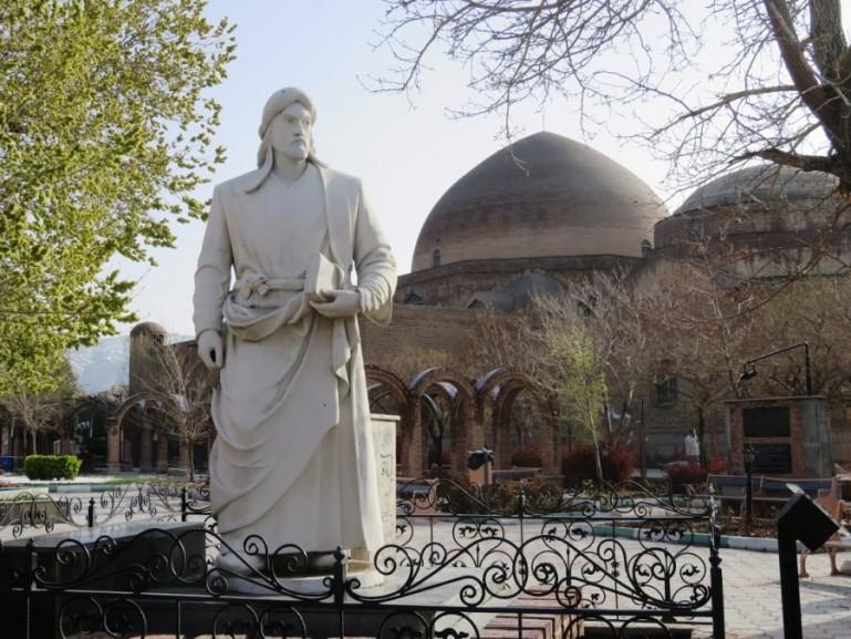 Khaqani garden near the blue mosque in Tabriz