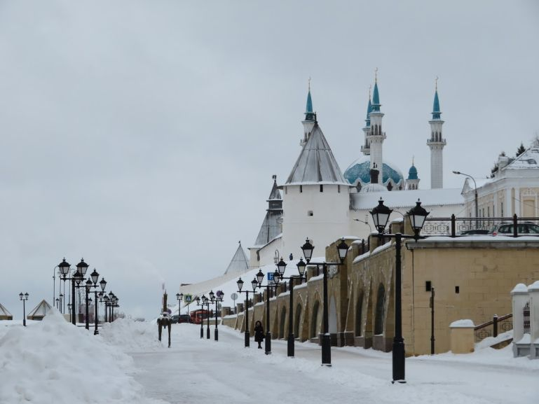 The Kremlin of Kazan in winter
