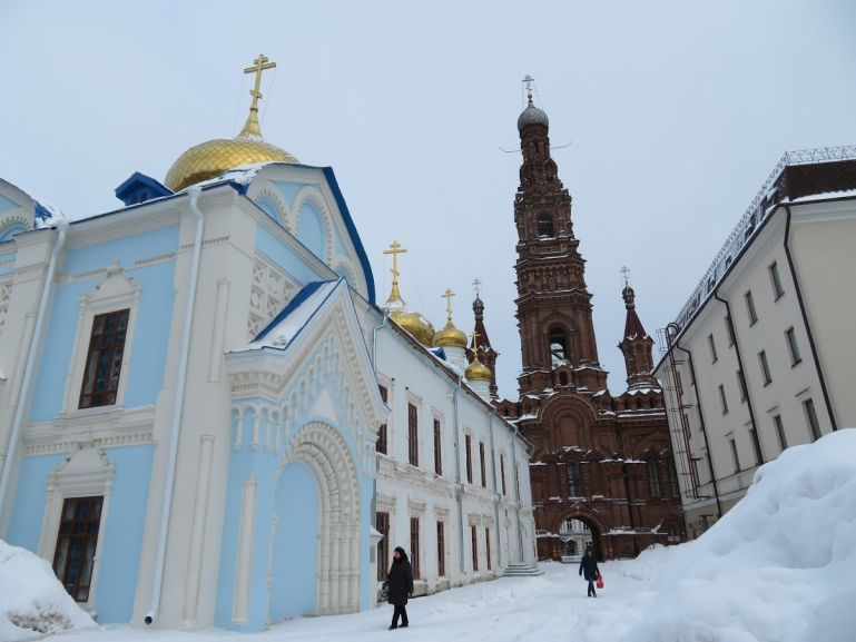 Epiphany church in Kazan in winter