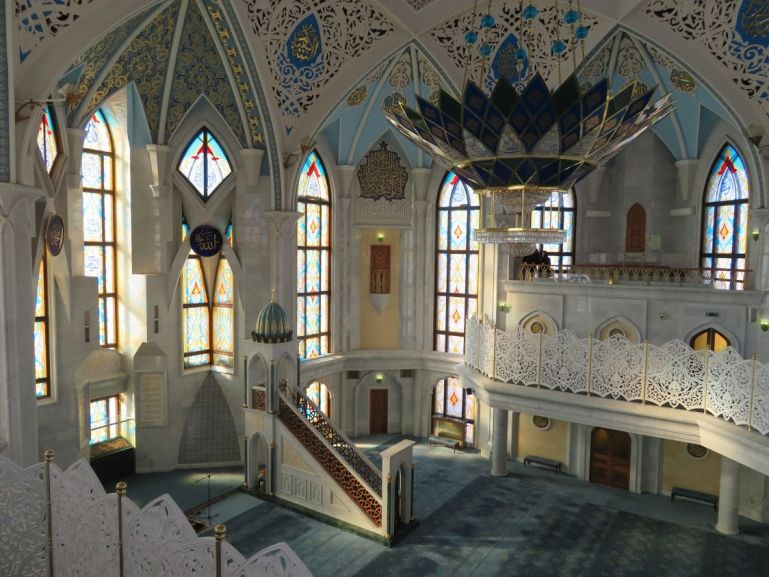 Interior of the Qul Sharif mosque in Kazan