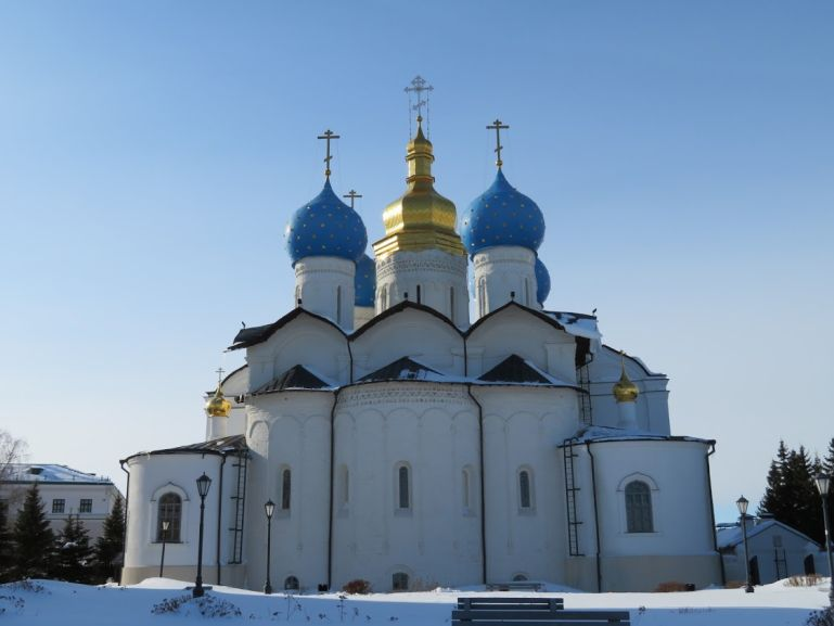 The Annunciation cathedral of Kazan in winter