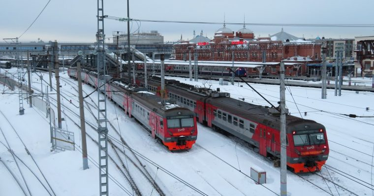The train from Moscow to Kazan in Russia