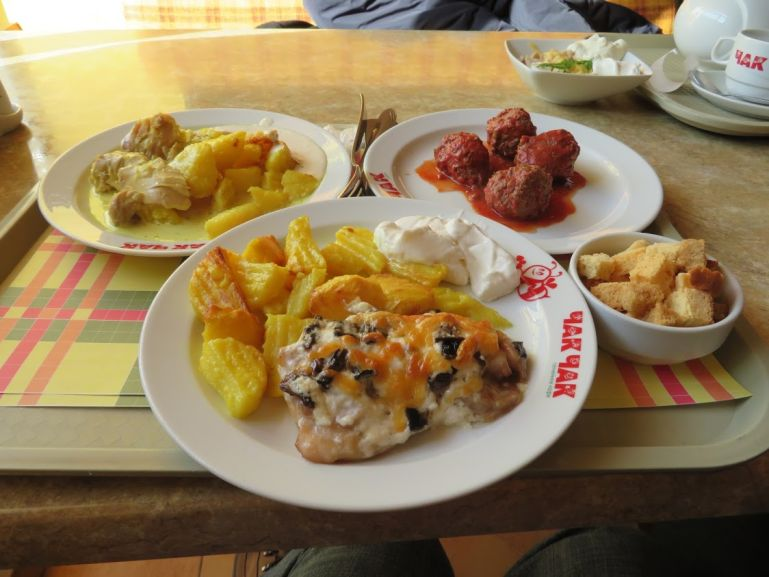 Horse meat balls in cafe chak chak in Kazan