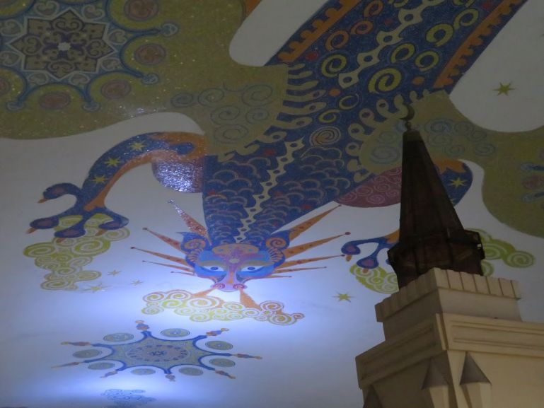 Zilant on the ceiling of the Kazan metro in Russia