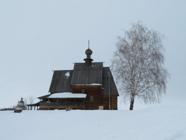 Wooden church in Suzdal Russia
