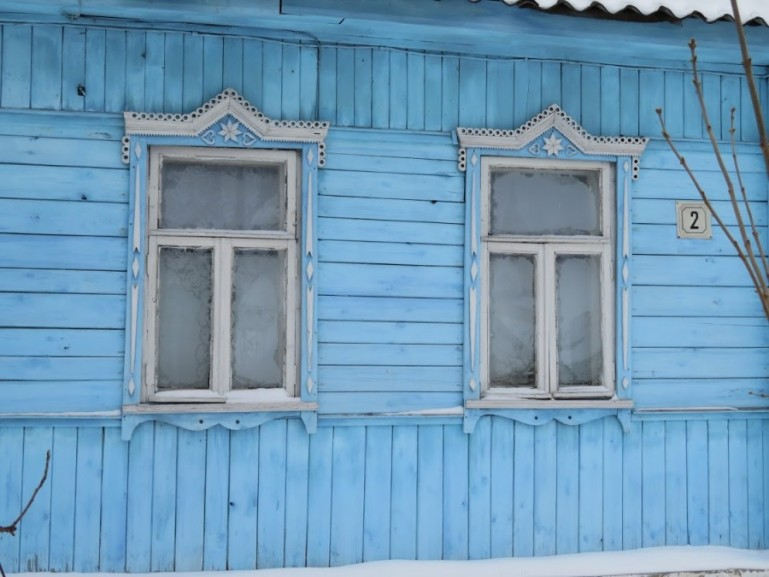 Wooden homes in Suzdal Russia