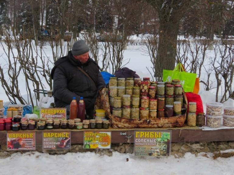 Souvenirs for sale in Suzdal Russia