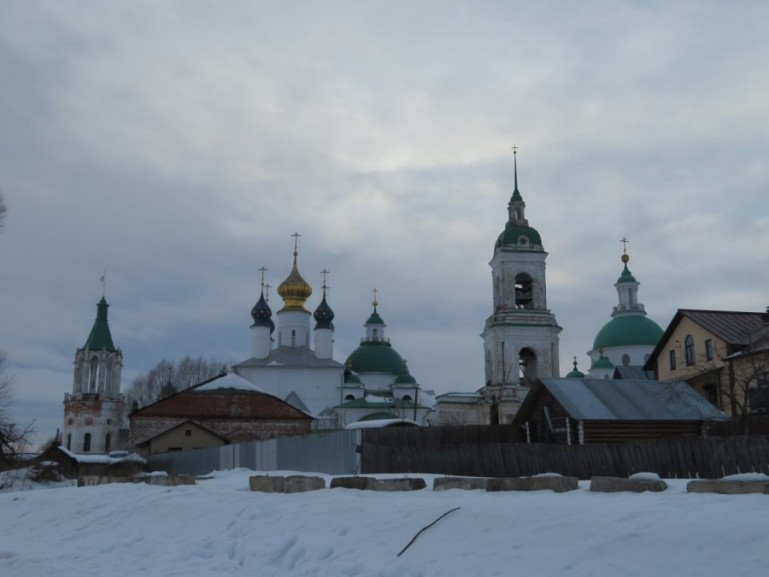 Rostov Veliky skyline. One of the most picturesque Golden Ring cities in Russia