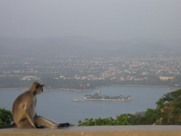 View from monsoon palace in udaipur