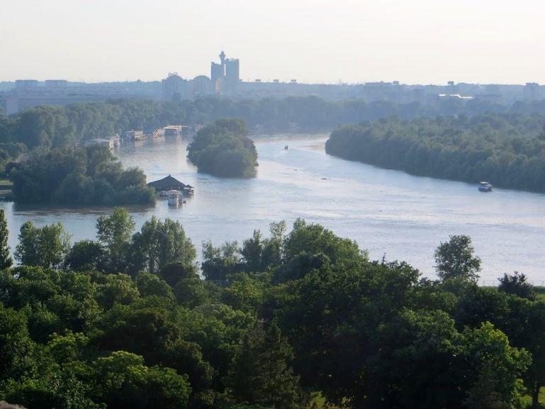 Danube river in Belgrade Serbia