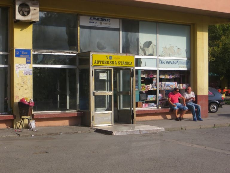 Bus station in Tuzla. The bus is the best mode of transport for backpacking Bosnia