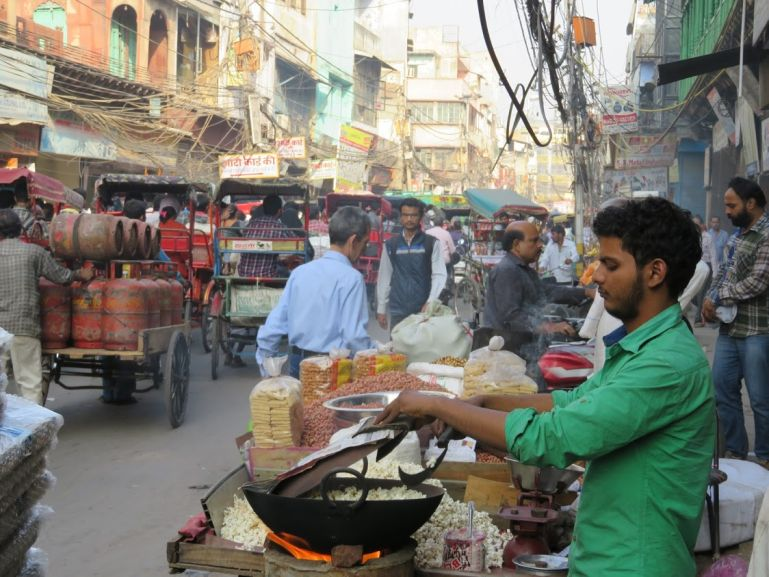 Street food in Chandni Chowk