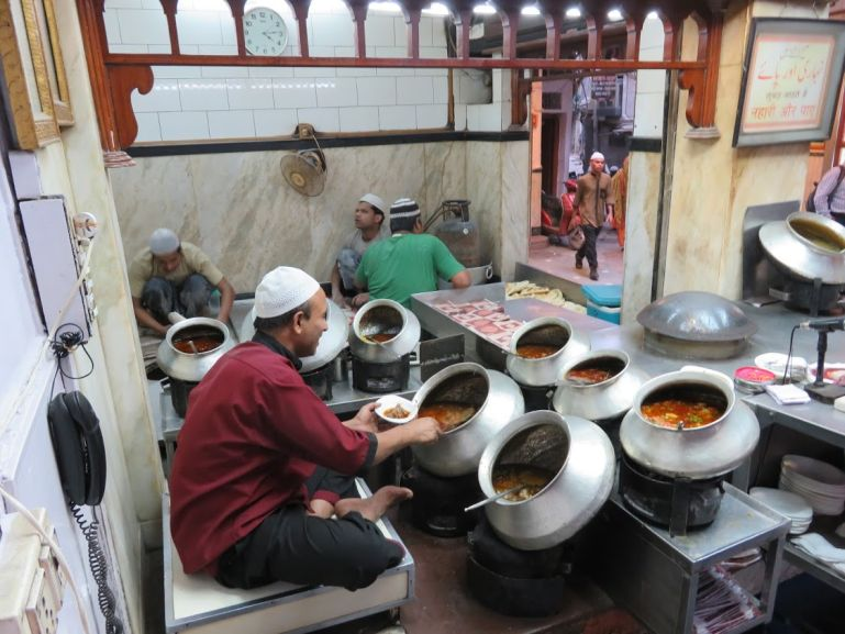 Kareem restaurant in Old Delhi. One of the highlights of your Delhi itinerary