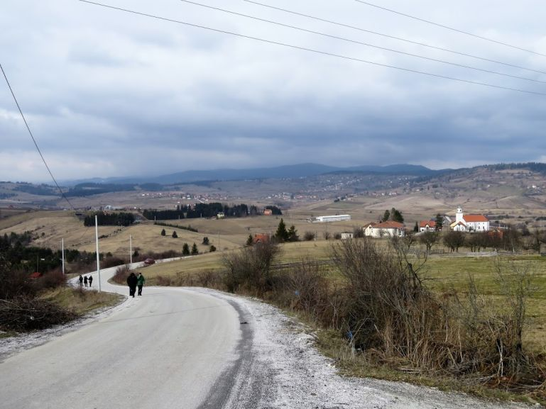 Driving through the countryside of Bosnia