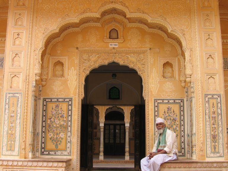 Entrance to Nahargarh fort in Jaipur India