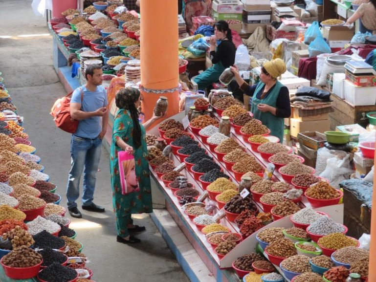 Bazaars in Tajikistan are the best places to learn more about Tajik food