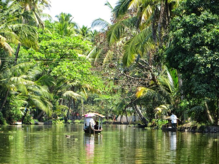 The best backwaters in Kerala are around Allepey
