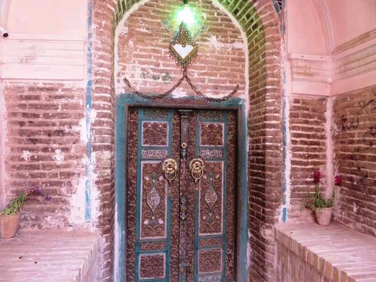 The door of the Jame Masjid in Abyaneh Iran