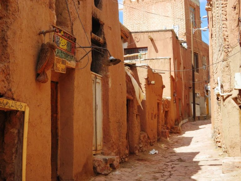 red mudbrick homes in Abyaneh Iran