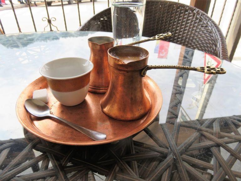 Bosnian coffee served in a dzezva