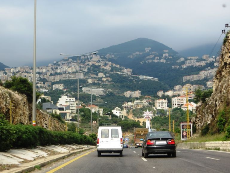 The road from Beirut to Baalbek