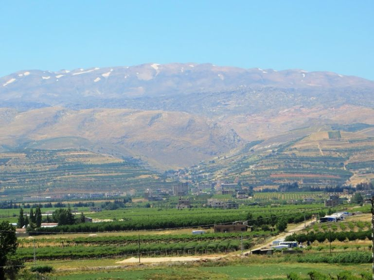 The Bekaa valley on the way from Beirut to Baalbek