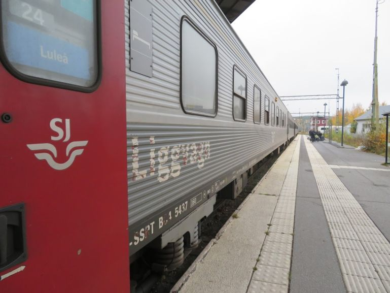 The night train from Stockholm to Lulea is a sustainable way to reach Lapland