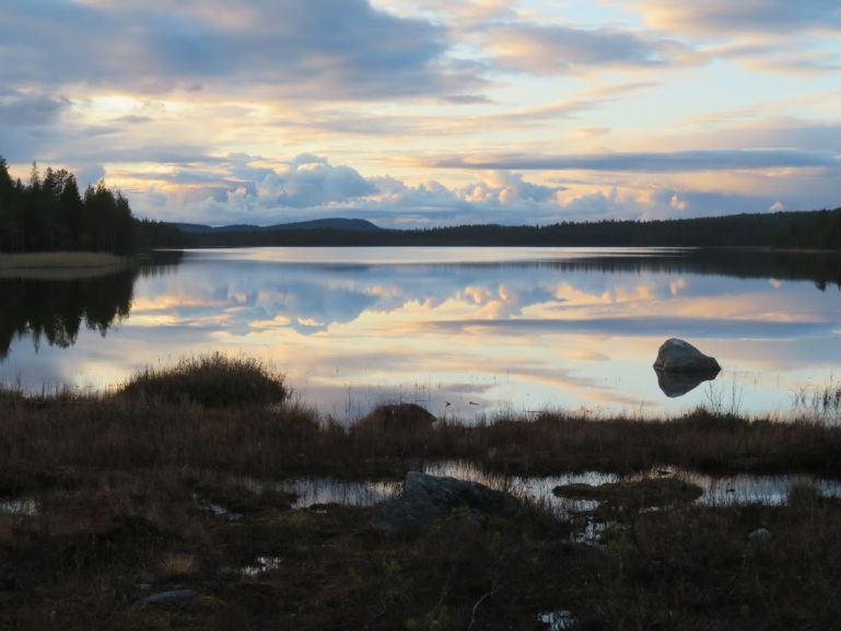 Sunset in Swedish Lapland