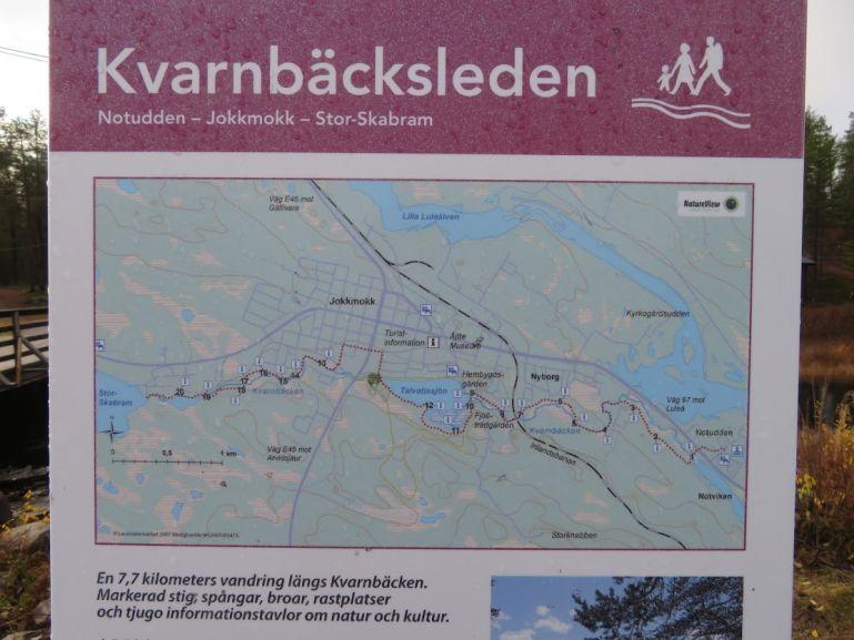 Kvarnbacksleden in Jokkmokk Sweden