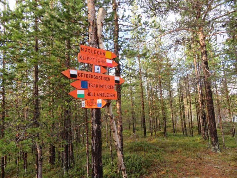 Hiking in Jokkmokk Sweden