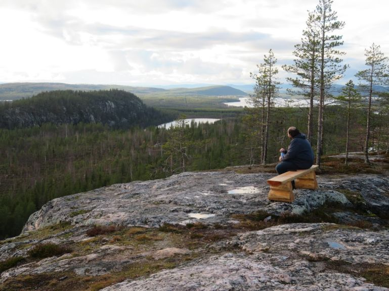 Getbergstigen viewpoint in Jokkmokk Sweden
