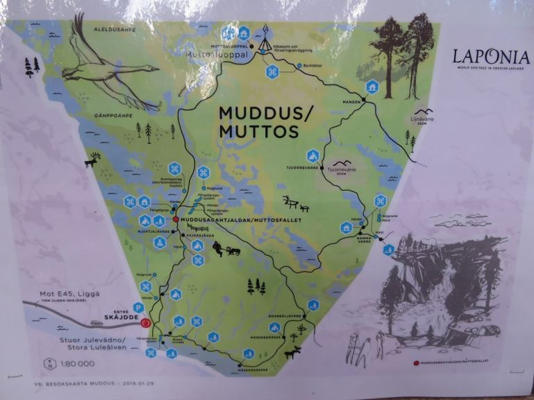 Muddus National Park map